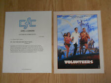 JOHN CANDY ~ Volunteers  ~Autographed 1985 World Premier Movie Program with COAs