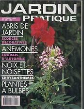 """JARDIN PRATIQUE N° 60 """"OCTOBRE 1992""""--ABRIS JARDIN/ANEMONES/NOIX & NOISETTES"""