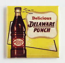 Delaware Punch FRIDGE MAGNET (2 x 2 inches) soda sign bottle label