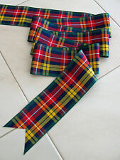 "Buchanan Multi-colored Tartan Plaid Ribbon Extra Wide 2 3/4""- By the Yard"