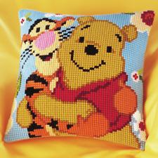 De Disney Winnie The Pooh y Tigger Kit Cojín de Punto de Cruz