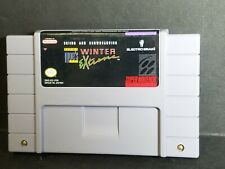 Tommy Moe's Winter Extreme Skiing & Snowboarding Snes Game Cartridge Authentic