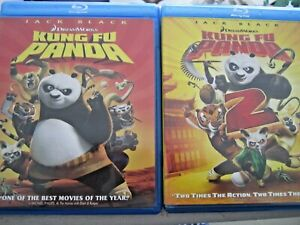 Kung Fu Panda AND KUNG FU PANDA 2 (Blu-ray Disc, 2008, Widescreen) FREE SHIPPING