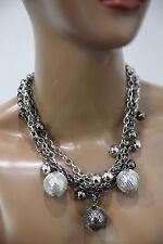 Women's Silver Necklace Chain Ball Fashion Costume Jewelry Silver Gunmetal