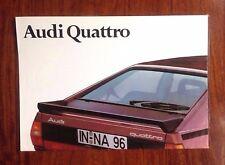 Audi Quattro - Original 1980 2-sided Launch Leaflet / Poster 60x42cm