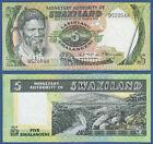 SWASILAND / SWAZILAND 5 Emalangeni (1974) UNC P. 3