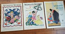 LOT 3 WOMAN'S WORLD Magazines 1918 - 1939 Artist Covers Maginel Wright Barney