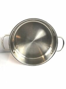 """Wolfgang Puck Bistro Collection 10"""" Casserole Stainless Steel 18-10 Pan"""
