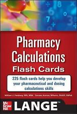 Pharmacy Calculations Flash Cards, Aceves, Carmen, Feinberg, William, New Book