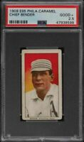 Rare 1909 E95 Philadelphia Caramel HOF Chief Bender Athletics  PSA 2.5 GD +