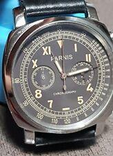 orologio Parnis cronografo mod.pa6046 uomo stile vintage funzionante quarz