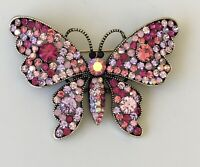 Vintage style pink  Butterfly Brooch & Pendant
