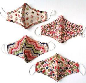 Women/Children Designer Sequin Embroidered Mask Design E