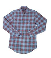 Polo Ralph Lauren Mens Shirt Blue Size XS Button Down Plaid Stretch $89 #349