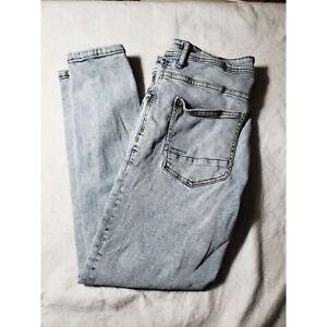 Zara Jeans Straight Leg High Rise Women's 32 Lightly Distressed