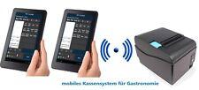 Mobiles Kassensystem für Gastronomie Bondrucker, 2x Kellnerterminal Kassensoft