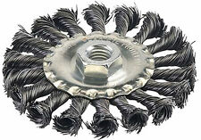 """100 mm 4 """" Twist knot steel wire wheel brush M14 for angle grinder"""