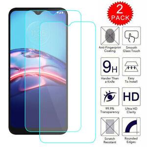 2 Pack For Motorola Moto E (2020) Premium Tempered Glass Screen Protector Film