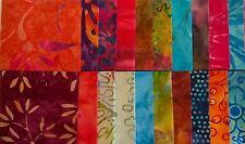 "Beautiful Batiks Fabric Jelly Roll Strips - 20 strips 2.5"" x 44"" Set 08"
