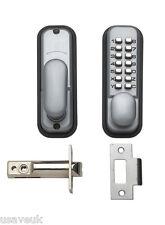 BRITON Push Button Mechanical Digital DOOR LOCK SILVER 9160