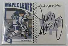 Jim McKenny A-JMK Autographed 2005 In The Game Hockey Card Toronto Maple Leafs