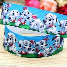 "GROSGRAIN RIBBON 7/8"" DALMATIAN PUPPIES DOGS D4 USA SELLER"