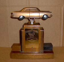 Vintage 1957 St. Charles Speedway Racing FIGURE 8 TROPHY 1956 Plymouth Topper