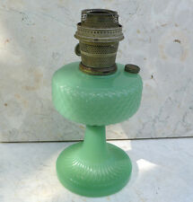 ~ antique Aladdin Jadeite Green Glass OIL LAMP ~ Nu-Type Model B