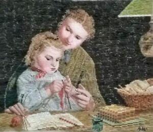 Stickpackung, Gobelin,Oehlenschläger, Mutter, Kind, Handarbeiten,sticken,48x40cm