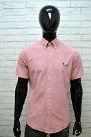 RALPH LAUREN Camicia Uomo Taglia 39 ( M ) Camicetta Polo T-Shirt Men's Hemd