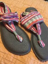 Sanuk Sling Back Yoga Sandals Boho Size 9