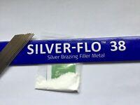 silver solder Johnson Matthey Silver-flo 38 15 rods x 200mm 1.5mm flux FREEPOST!