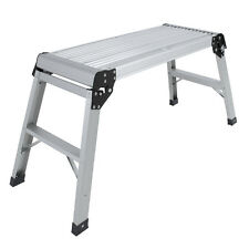 2017 Aluminum Platform Drywall Step Up Folding Work Bench Stool Ladder