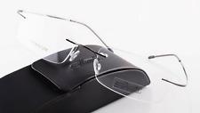 Silhouette-Brand-New-Titanium-Eyeglasses-140mm-18mm-51mm-Black-Frame