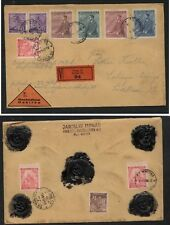 Bohemia   Moravia  nice registered cover  seals on back  1942         MS0117