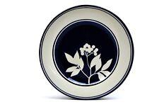 """Dansk Handpaints Sureau Blue White Floral Flowers Salad Plate(s) 9"""""""