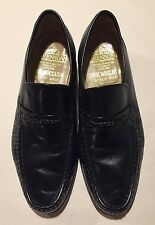GRENSON Leather Moccasins mens 7 UK 8 US Bench Hand Made Loafers Black