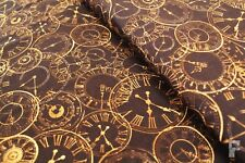 100% COTTON PRINTED FABRIC - STEAM PUNK RANGE - CLOCKS & DIALS