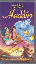 WALT DISNEY Original Classic ALADDIN on VHS Video. Excellent Condition.
