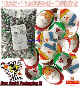50 Foiled Christmas Milk Chocolate Mini Eggs Retro Chocolates Sweets Pick N Mix