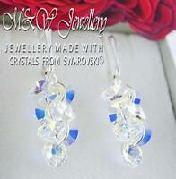 925 SILVER EARRINGS XILION RIVOLI - CRYSTAL AB CRYSTALS FROM SWAROVSKI®