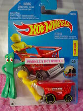 AISLE DRIVER #139✰yellow;red/gray shopping cart✰Ride✰2017 i Hot Wheels case F/G