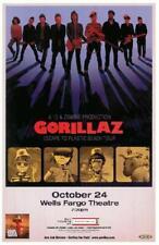 NEW  GORILLAZ ESCAPE TO PLASTIC BEACH TOUR Rock Concert Poster