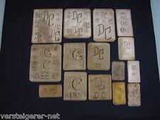 15 x DC Merkenthaler Monogramme, Kupfer Schablonen, Stencils, Patrons broder