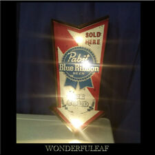 Pabst Blue Ribbon Sign Beer Bar Pub Party Decor Metal Marquee Retro Sign Light