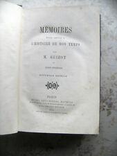 F. GUIZOT: MEMOIRES POUR SERVIR A L'HISTOIRE DE MON TEMPS - TOME PREMIER (1870)