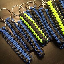ONE (1) Paracord Keychain FOB 550 Cord USA Custom Colors! TJPARACORD