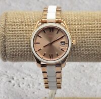 Fossil Women's Scarlette Mini Rose Gold Two Tone Stainless Steel Watch ES4589