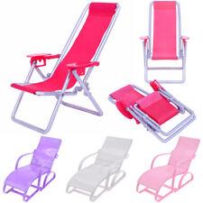 Room Doll Beach Chair Dollhouse Furniture Foldable Deckchair Toy Accessories