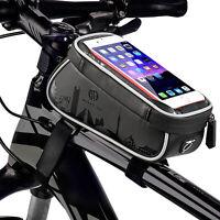 TPU Touchscreen Borsa anteriore Borsetta Tubo Porta Cellulare Bici Ciclismo Bag